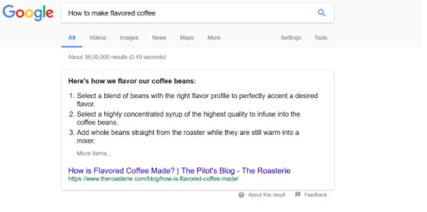 How to make flavored coffee search results