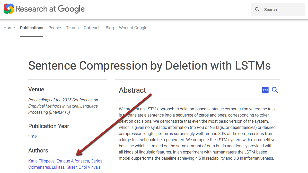 Sentence Compression by Deletion with LSTMs