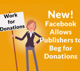 Facebook Announces Plan to Allow Content Creators to Beg for Donations