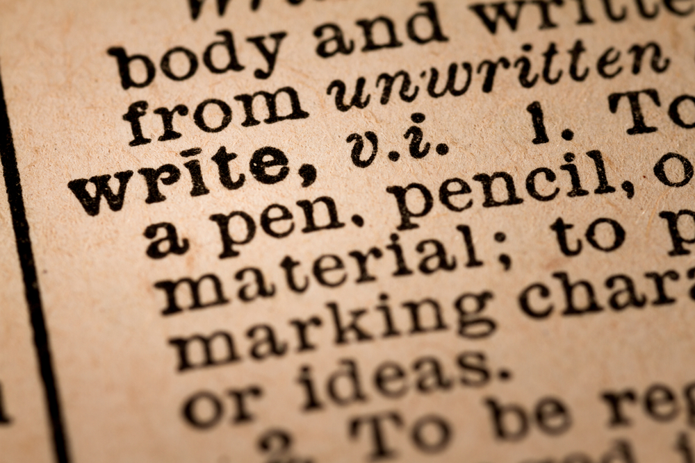 write-vintage-dictionary-definition