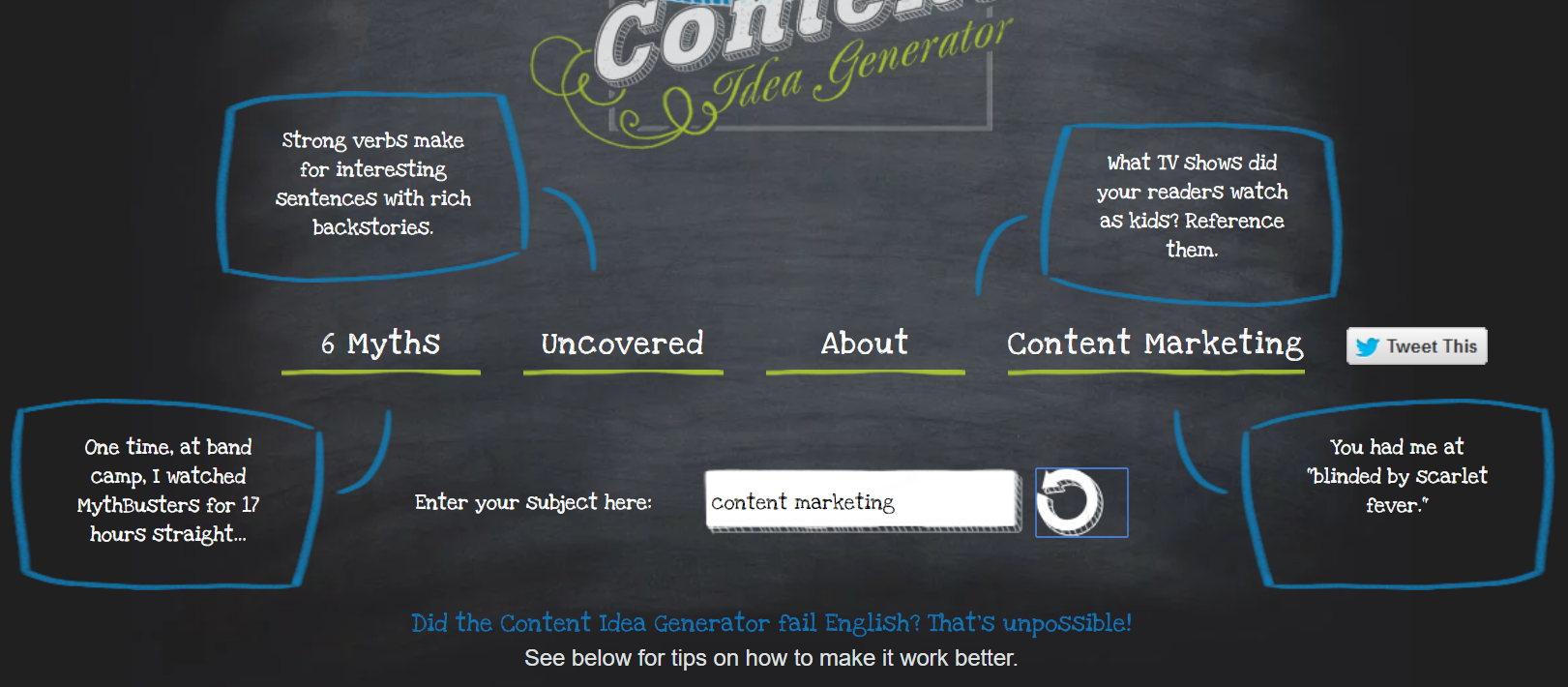 Top 15 tools that will help you create better content for Portent idea generator