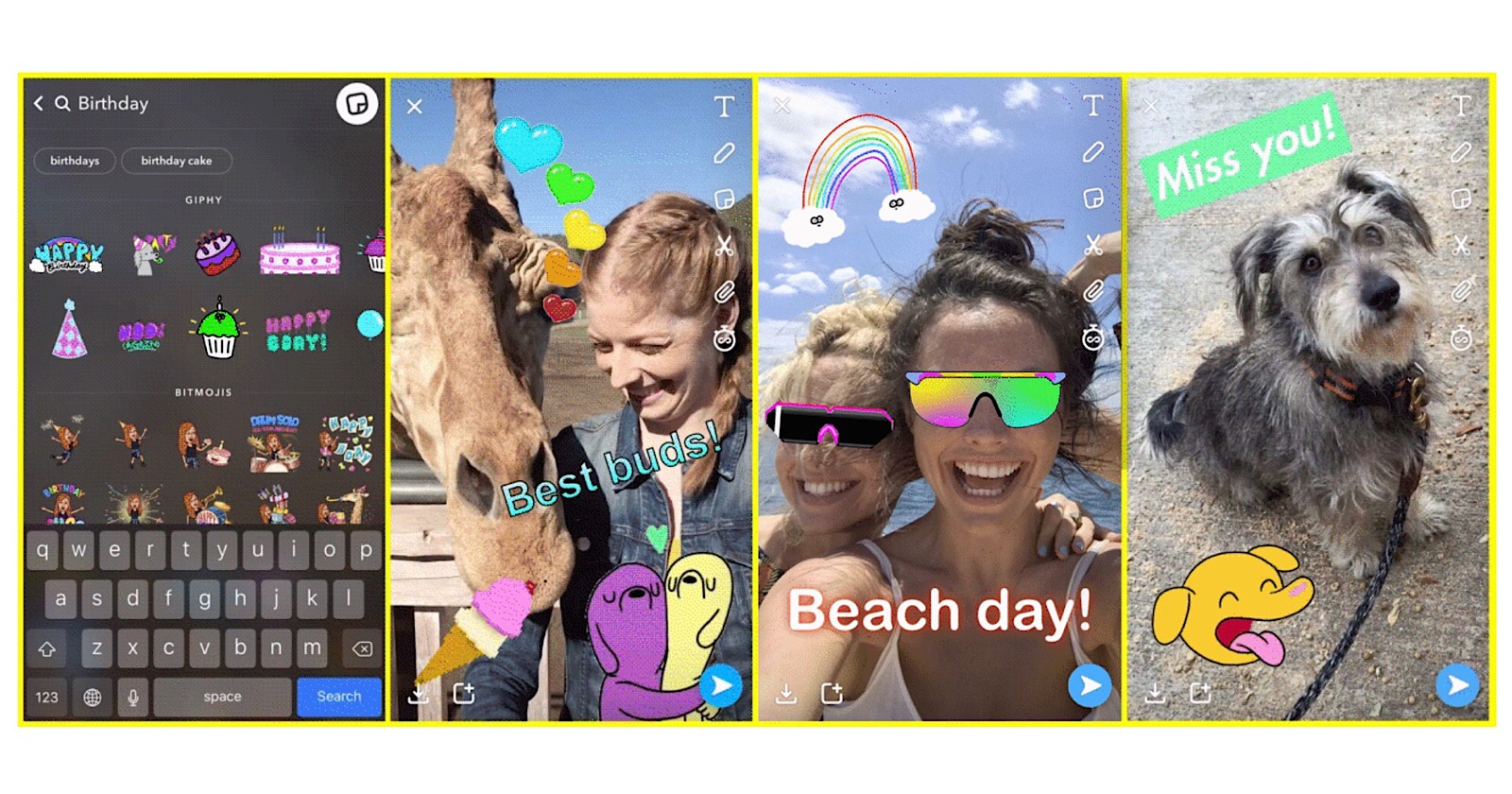 Snapchat Now Supports Animated Gifs From Giphy Search Engine Journal