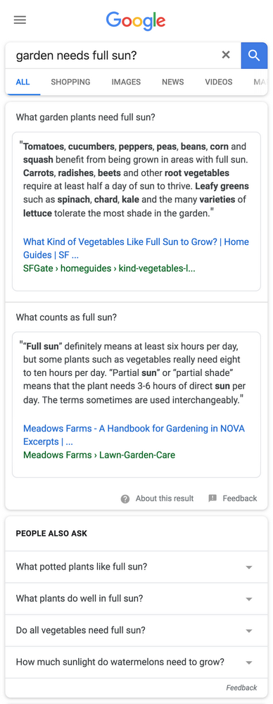 Google Search Update: Featured Snippets for Multi-Intent Queries