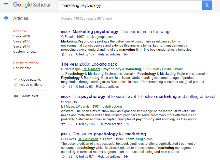 Google Scholar outbound link strategy