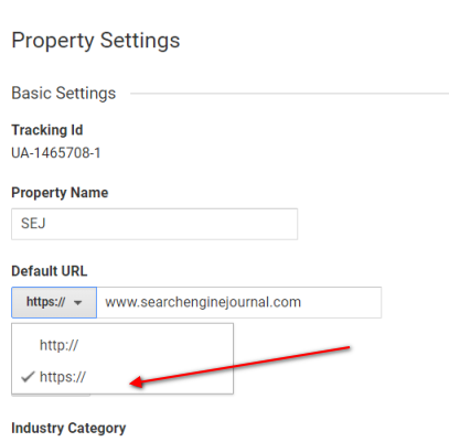Google analytics Website URl Setting