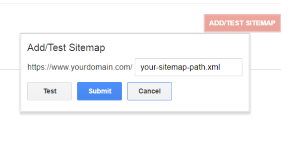 sitemap settings
