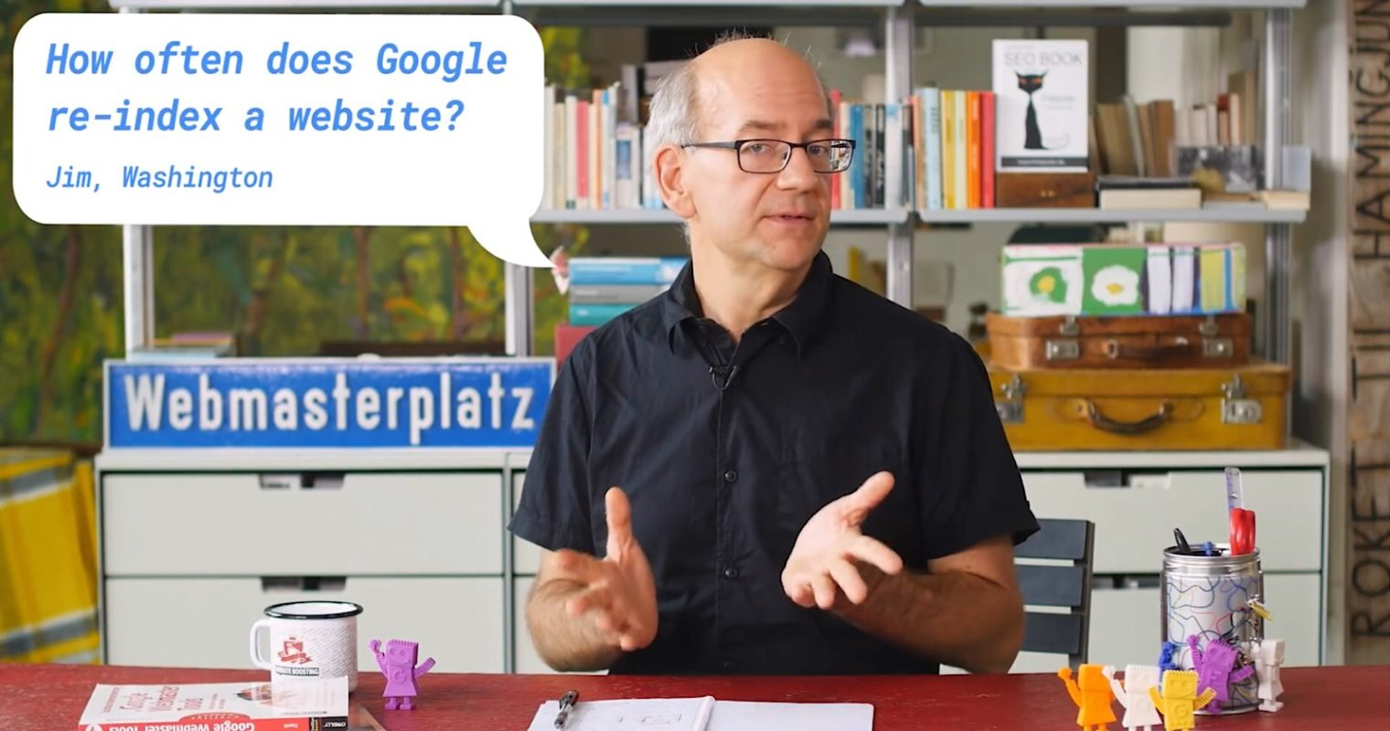 Google's John Mueller Reveals How Often a Site is Re-indexed in Search