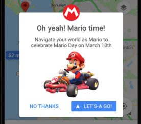 Resultado de imagem para original em Inglês: You can now drive around in Google Maps as Mario