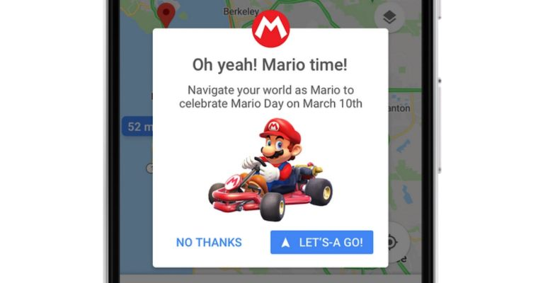 Starting on March 10, Navigate Google Maps with Mario for a Limited Time