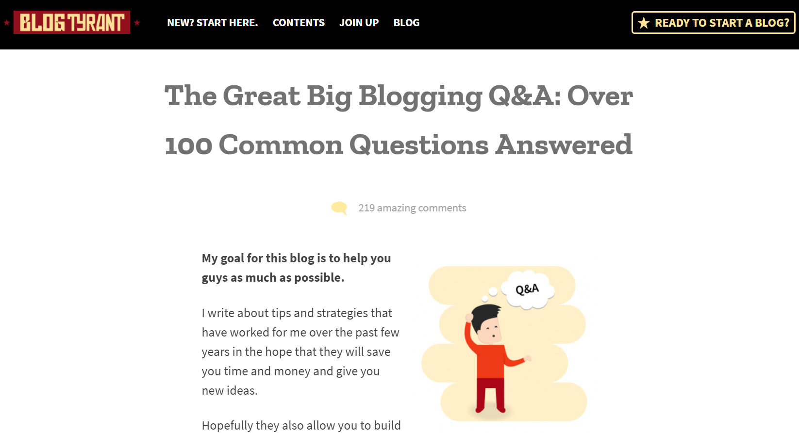 Blog Tyrant - The Great Big Blogging Q&A