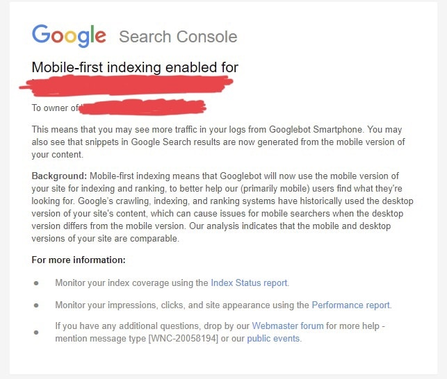 Google Begins Sending Mobile-First Indexing Notifications