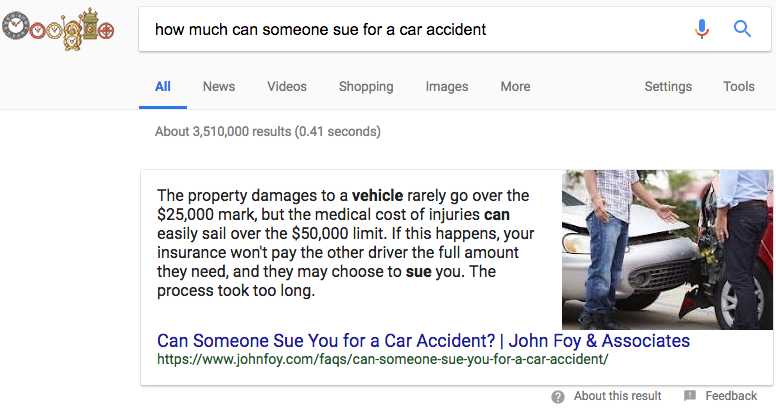 how much can someone sue for a car accident