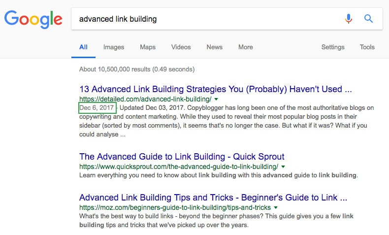 advanced link building guide screenshot