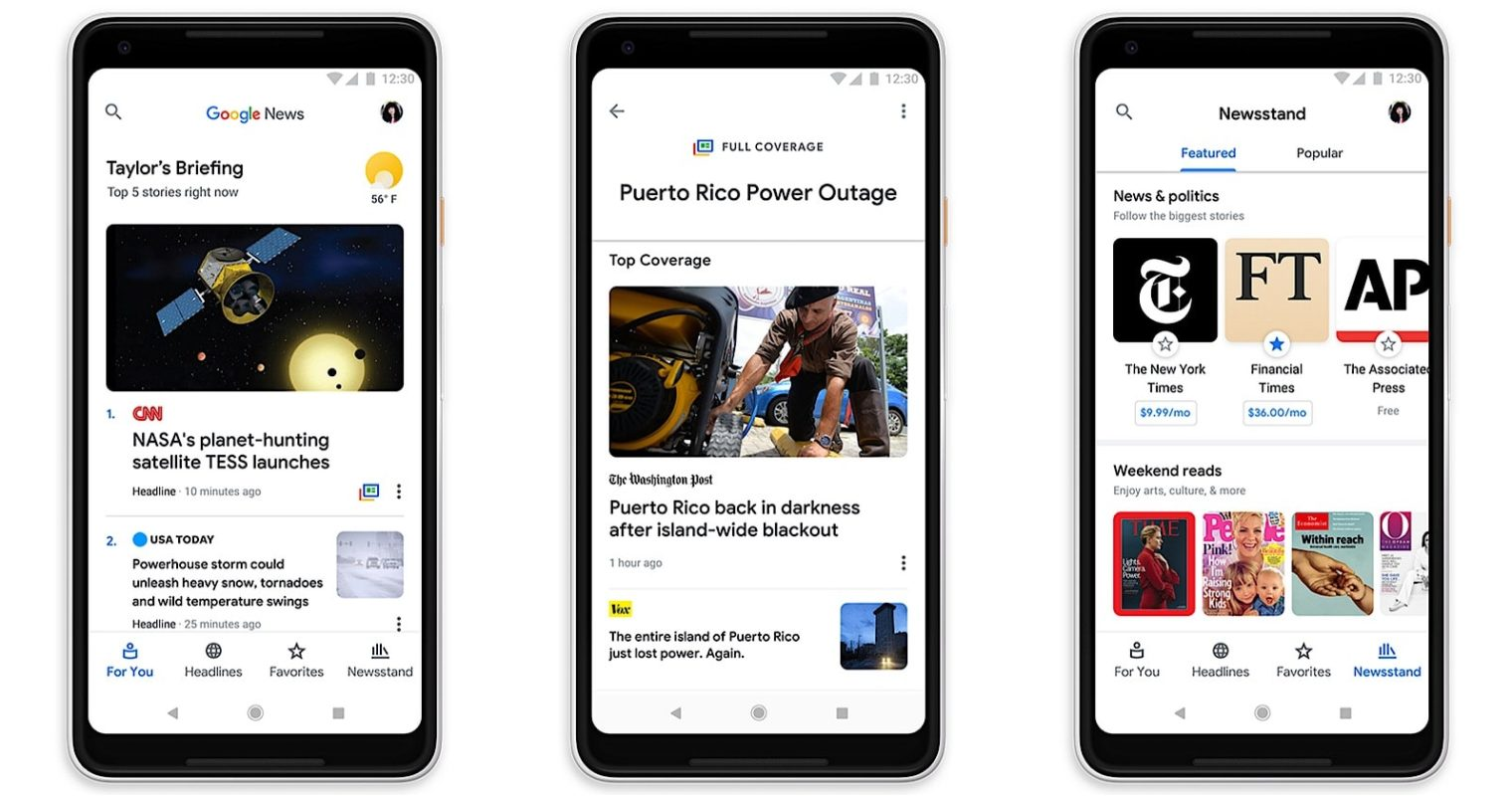 Redesigned Google News Uses AI to Connect Related Stories Together