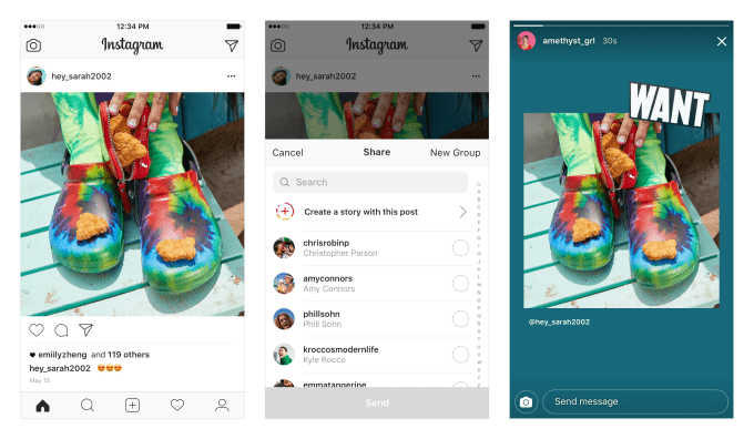 Instagram Lets Users Re-Share Posts in Stories