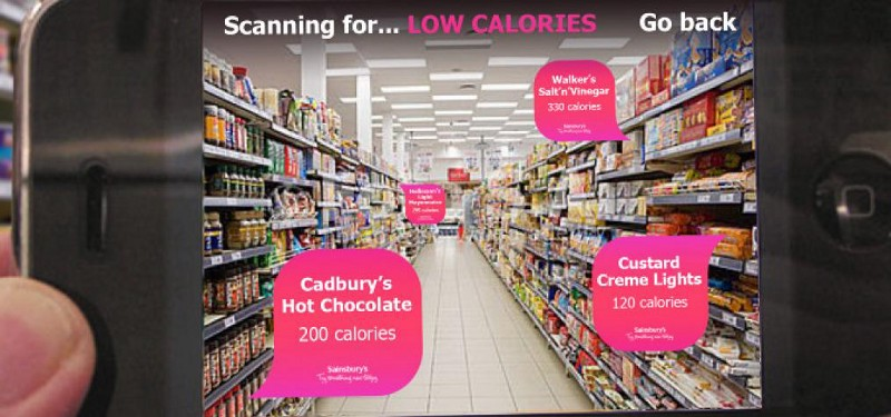 augmented reality marketing in supermarket
