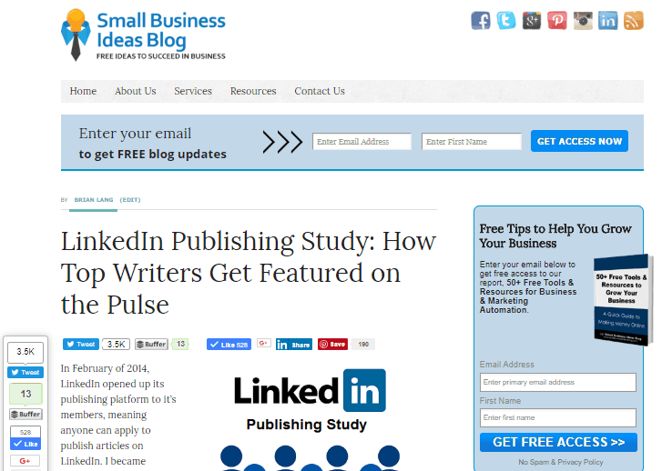LinkedIn Publishing Post
