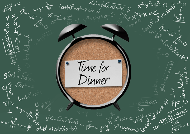 Time for dinner algorithm