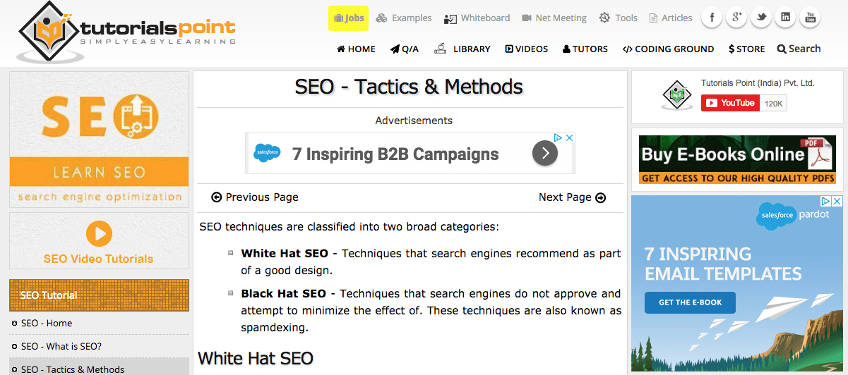 SEO tactics methods