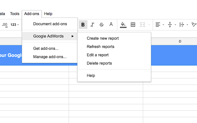 Google Adwords beta tool