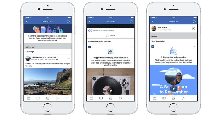 "Facebook's New ""Memories"" Page Highlights Engaging Posts from Years Past"
