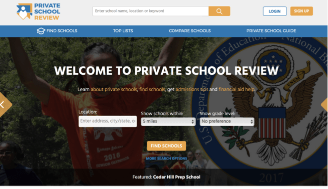 Directory site for schools