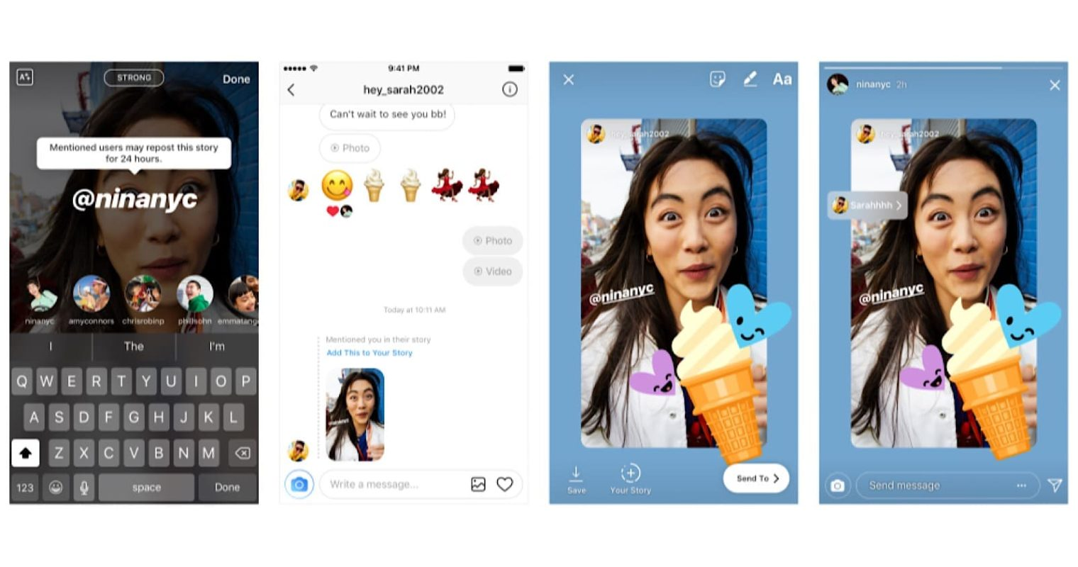 Instagram Lets Users Reshare Stories They've Been Mentioned In
