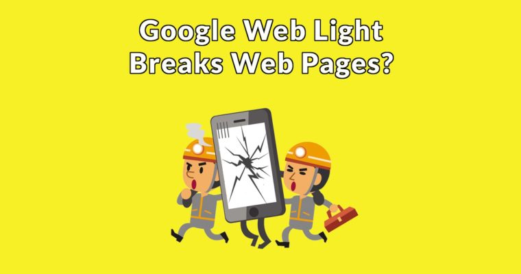 Concerns About Google Web Light