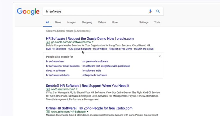 "Google Adds ""People Also Search For"" Box to Paid Search Results"