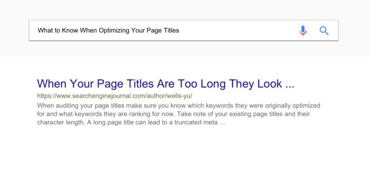 How to Audit & Improve Your Page Titles for SEO - Search Engine Journal