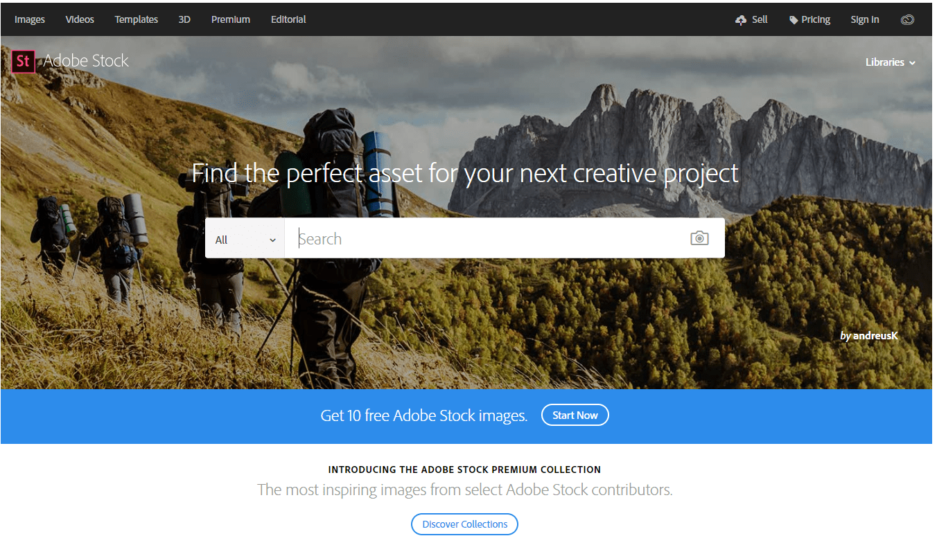 adobe-stock-homepage-screenshot