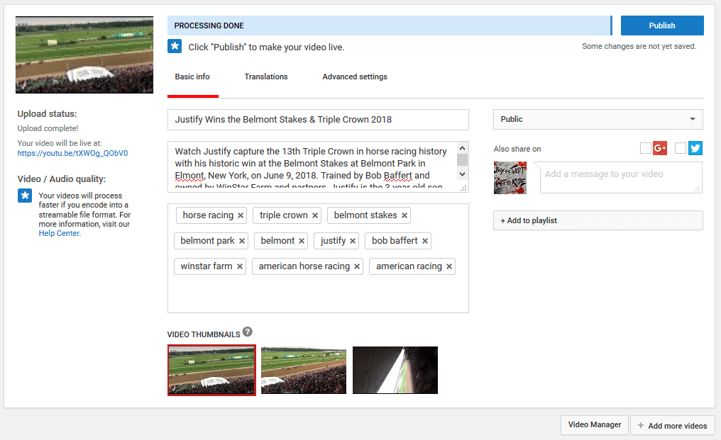 Basic video settings for YouTube content allow for basic optimizations that can improve video visibility and performance