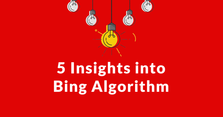 Bing Shares 5 Algo Insights