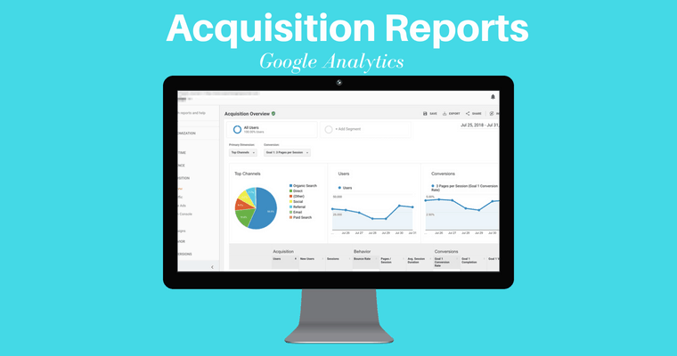 informe de adquisición de Google Analytics