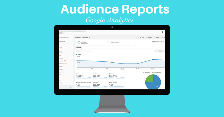 Informe de audiencia de Google Analytics