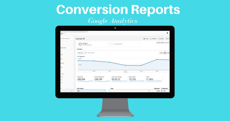 google analytics conversion report