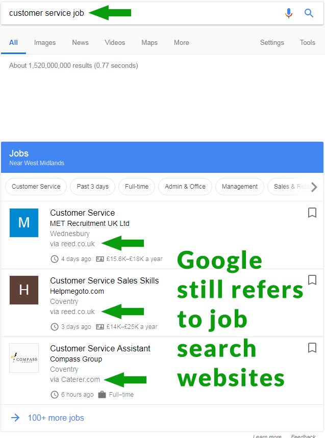 Google Updates UK Job Search Results