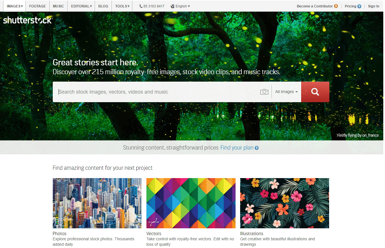 shutterstock-homepage-screenshot