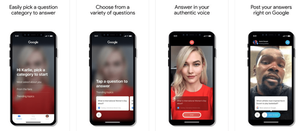 Google's New 'Cameos' App Lets Celebs Answer Questions from Search Results