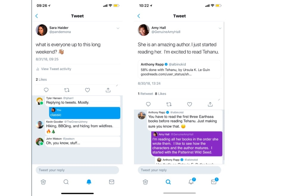 Twitter Tests Threaded Replies and Online Status Indicators
