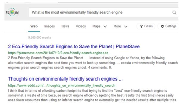 Ecosia Search