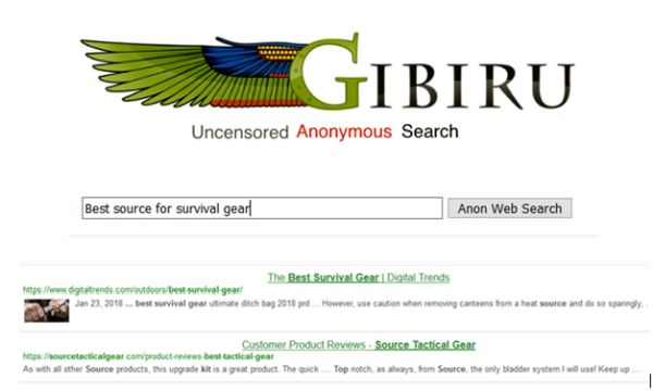 Gibiru Search