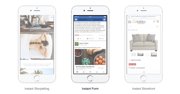 "Facebook Upgrades Canvas Ads, Now Known as ""Instant Experience"" Ads"