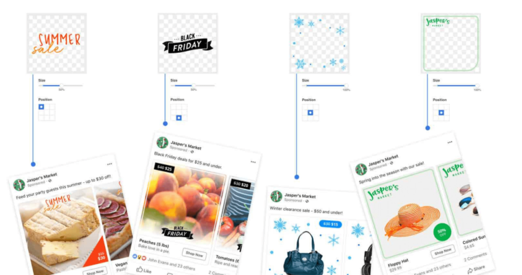 Facebook Rolls Out New Overlays for Product Ads, Holiday Templates