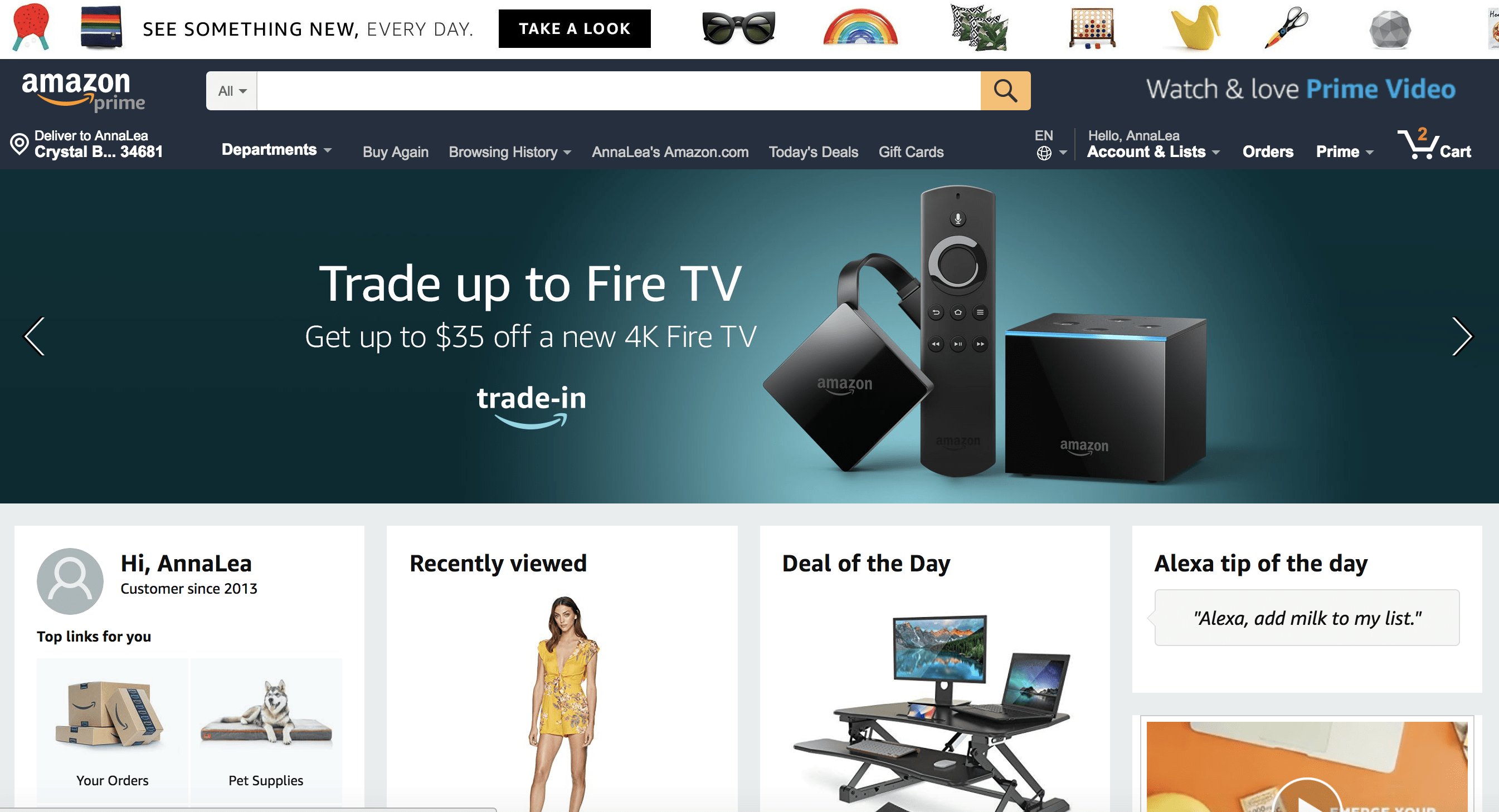 Amazon adaptive web design