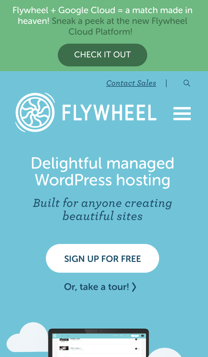 Flywheel popup