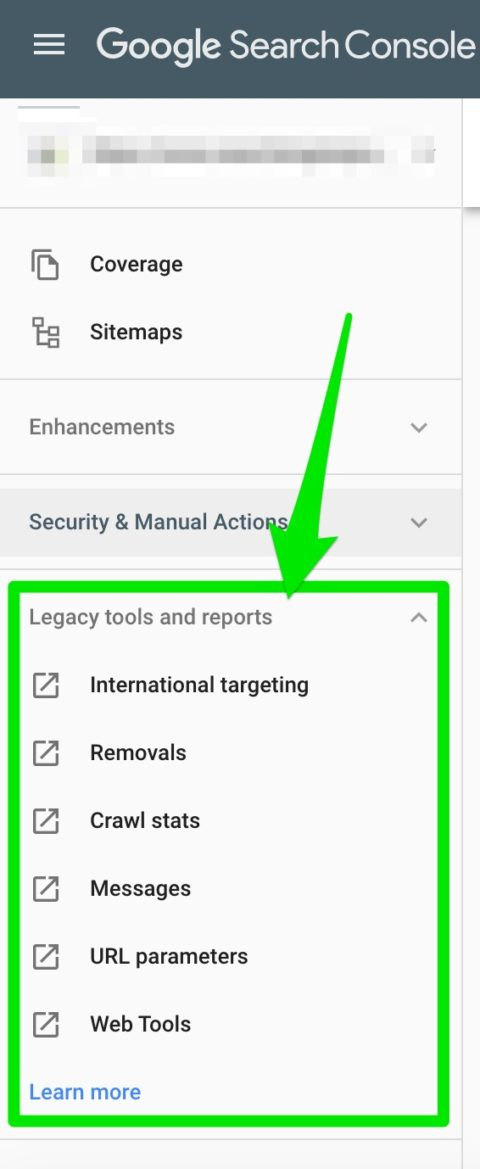 legacy tools reports google search console