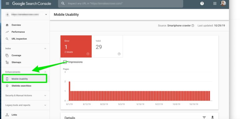 mobile usability google search console