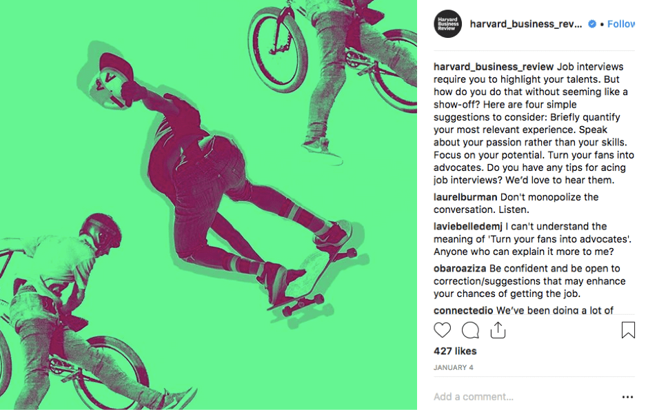 HBR Instagram Post