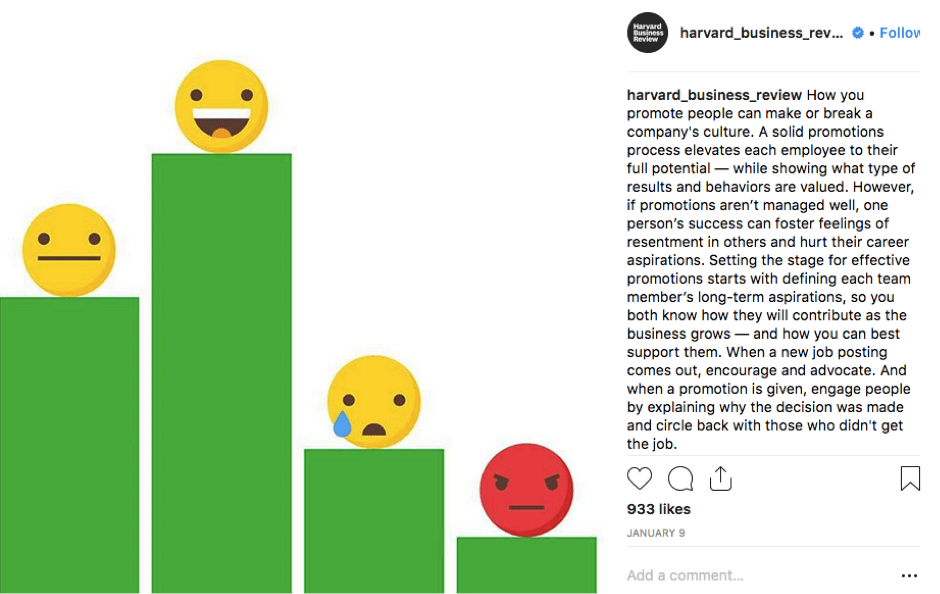 Harvard Business Review Instagram Post